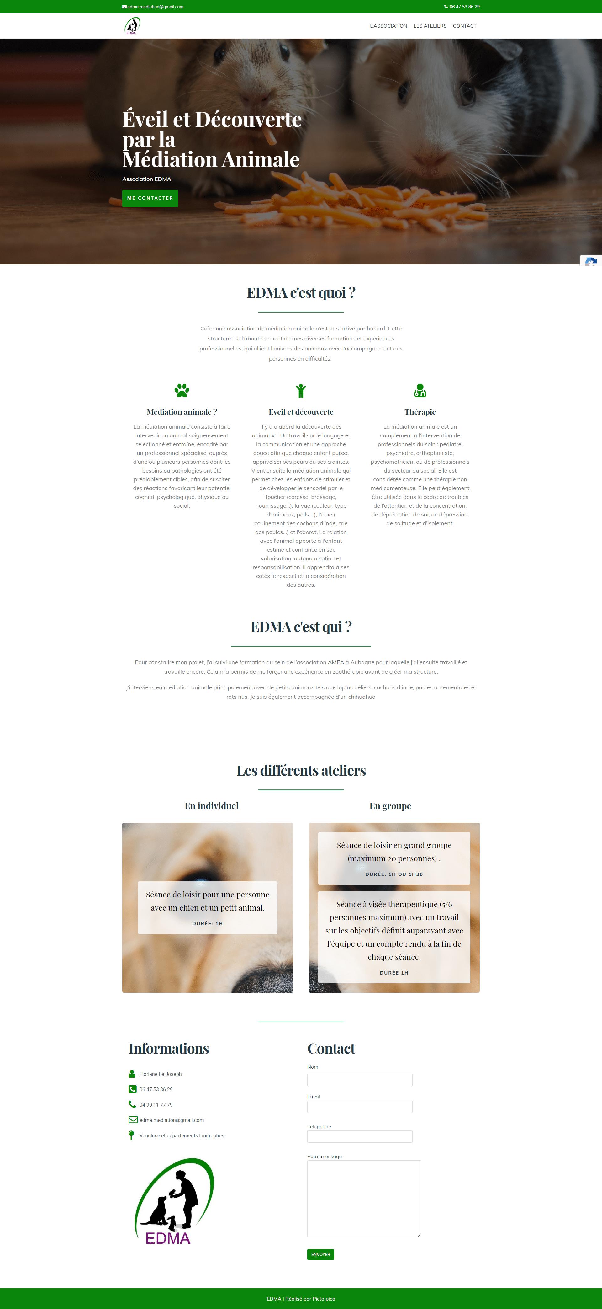 Home - EDMA - Eveil et Découverte par la Médiation Animale_ - edma-mediationanimale.fr